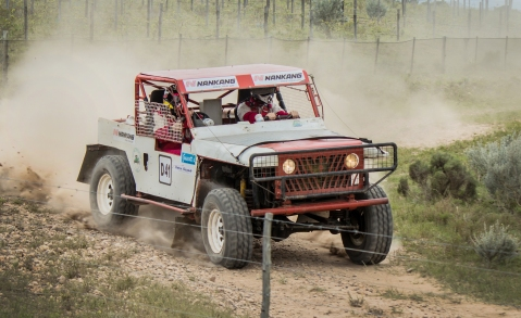 Jeff Guscott in his off-road racer.