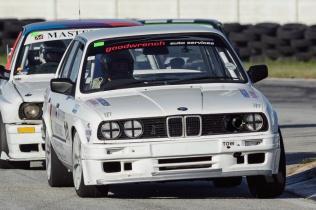 Racing driver Natius Geyser negotiates the esses at Aldo Scribante Raceway.