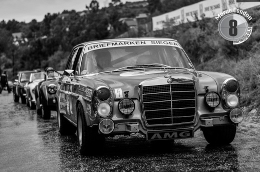 Mercedes-Benz on the start line of the Knysna Hillclimb