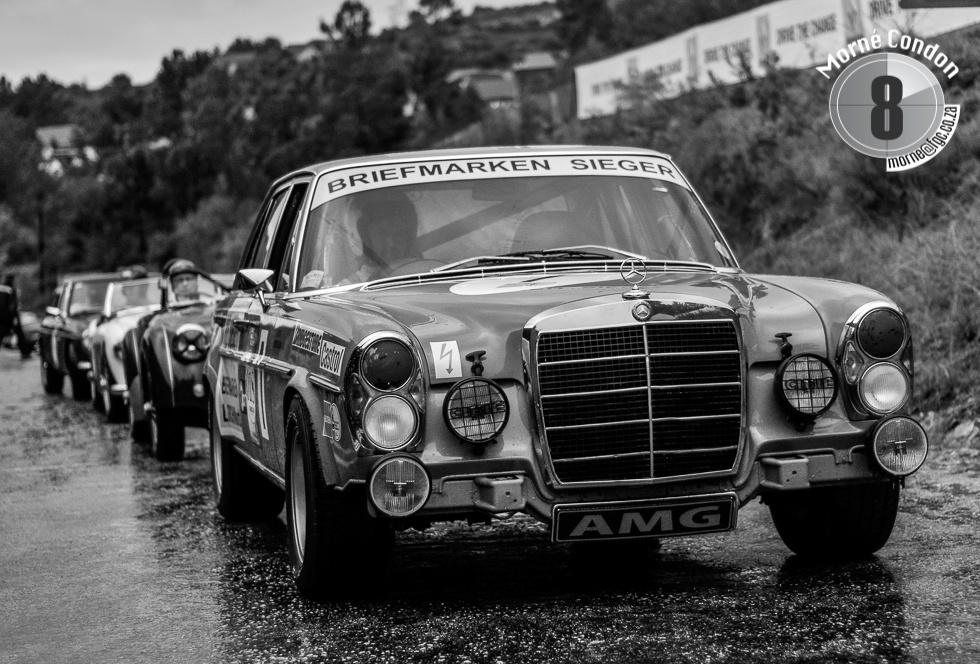 Mercedes-Benz on the start line of the Knysna Hillclimb