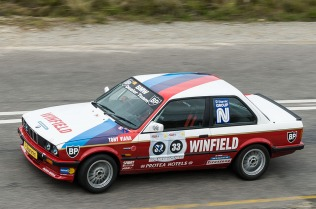 Fans of the Winfield BMWs can see this rare example racing up the hill.