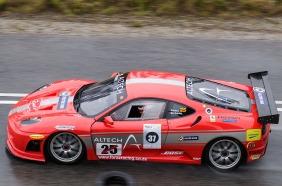 A Ferrari tackles the Knysna Hillclimb.