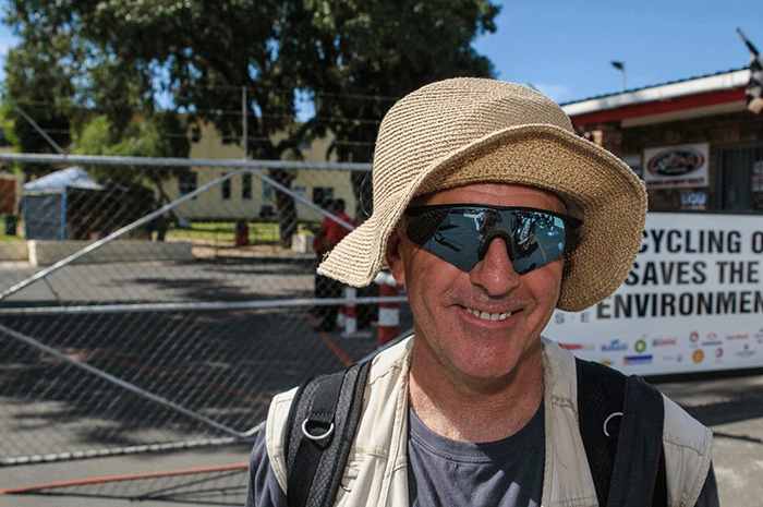 Steve Wicks, one of South Africa's most knowledgeable motorsport journalists and photographers.