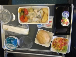 Beef or chicken? I had the chicken on Singapore Airlines, between Johannesburg and Singapore. It was actually very good.