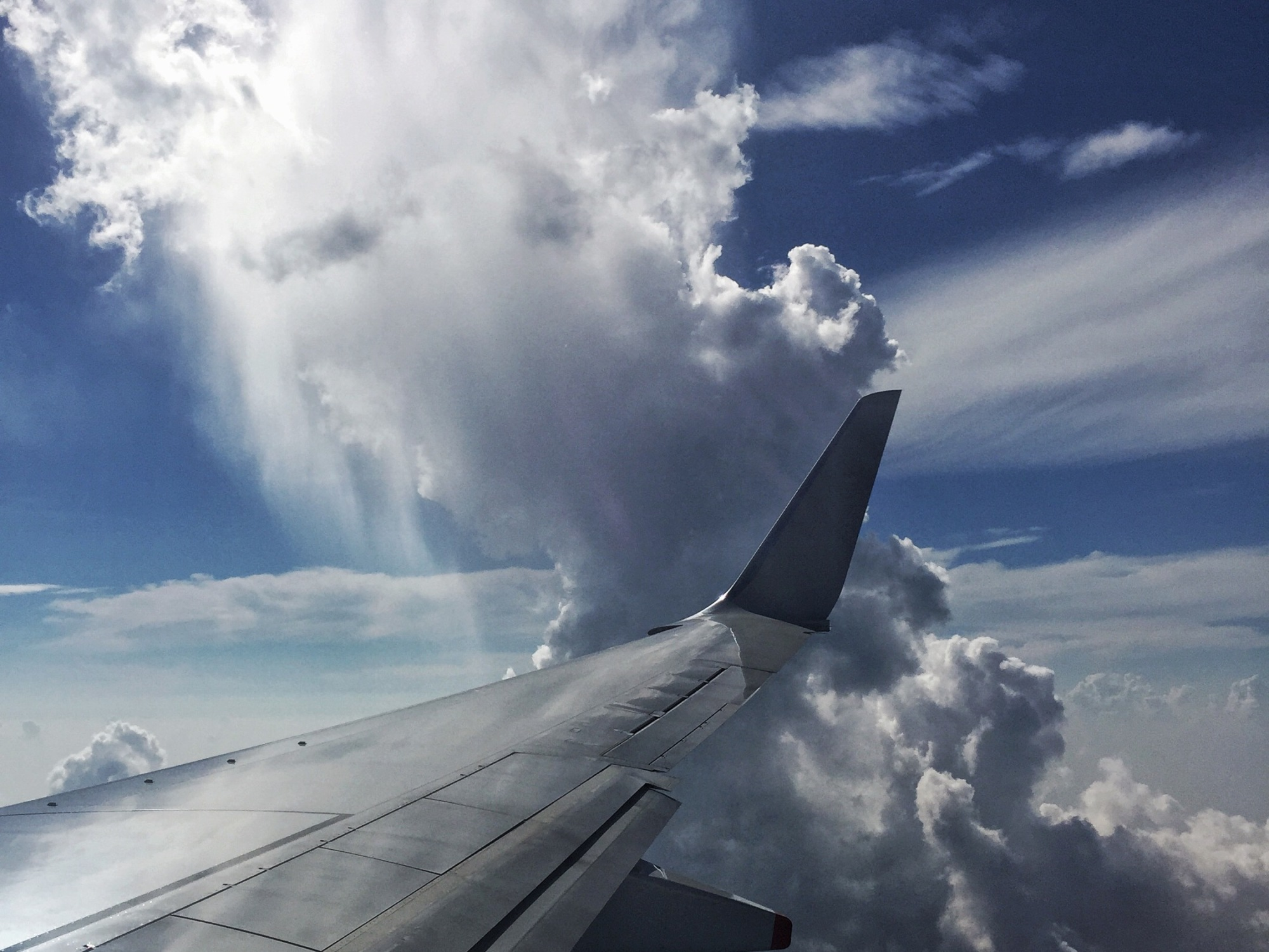 Some pretty dramatic cloud formations appeared the closer the plane got to Thailand.