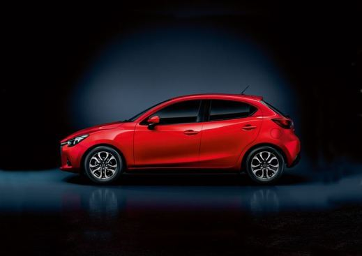 The Mazda2 in profile