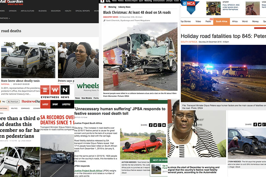 News headlines have not had much good news about road deaths in 2016