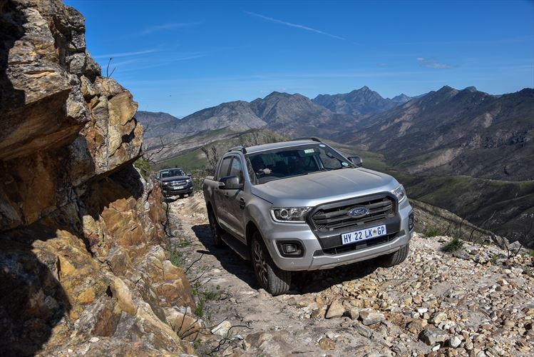 Ford Ranger on mountain path