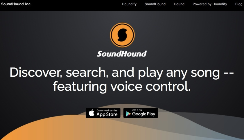 Soundhound for finding music
