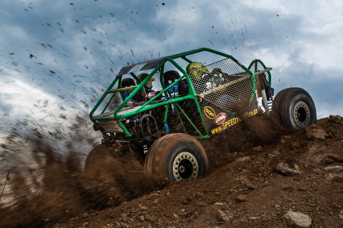 off-road vehicle in action